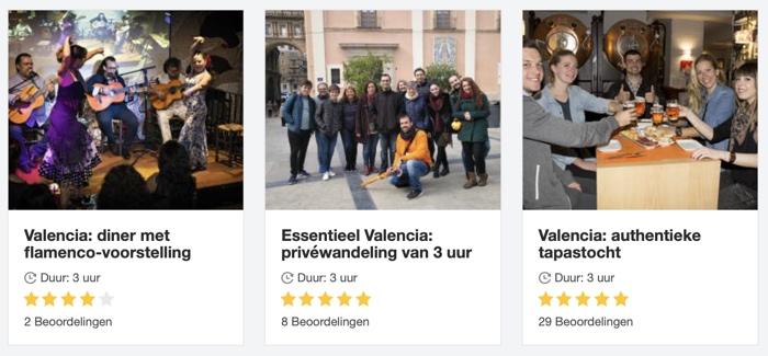 activiteiten in Valencia