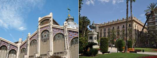 Valencia zijdebeurs en plein