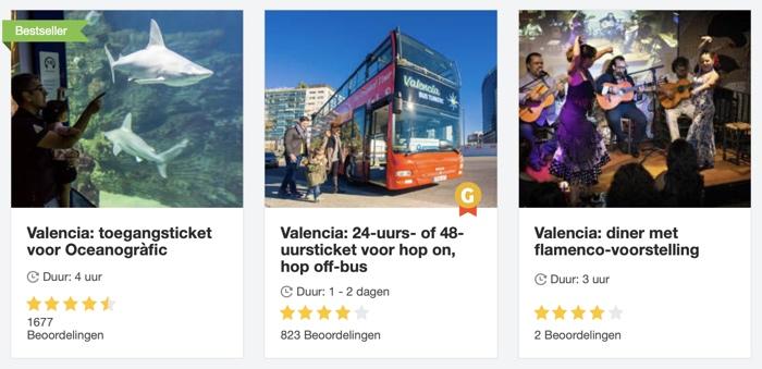 voorbeelden tours in valencia