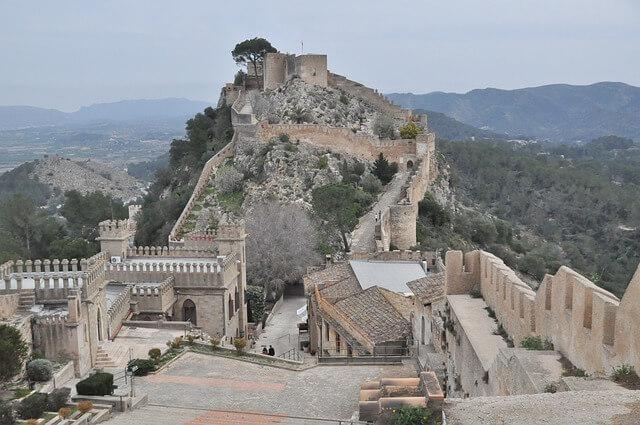 xàtiva kasteel in de omgeving van Valencia